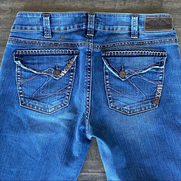 Silver SUKI Surplus Bootcut Jeans Sz 32 x 34